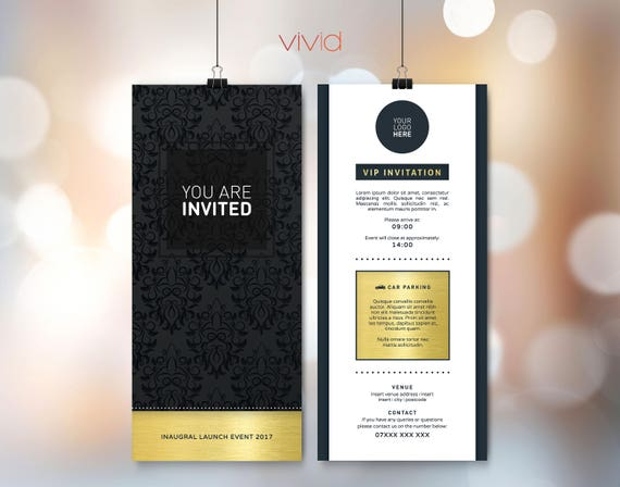Invitation Design Template DL Birthday Wedding