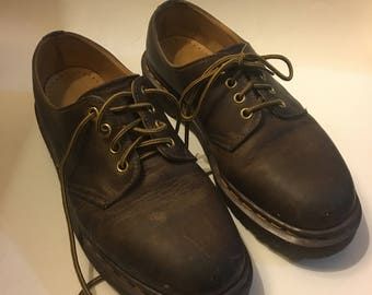 1990s Brown Low 4 Eye Dr. Martens, Made in England US WOMENS 9