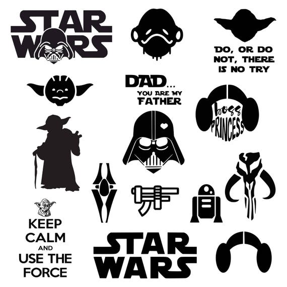 star wars svg darth vader svg master yoda svg princess leia rh etsy com yoda vector silhouette yoda vectoriel