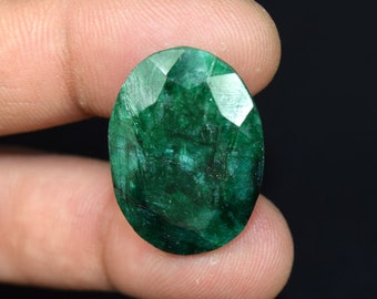 35.60  Cts. Beautiful  African  Emerald Oval  Cut Loose Gemstone