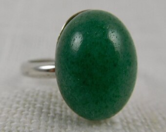 Vintage Sterling Uncas Adjustable Ring with an Amazonite Stone