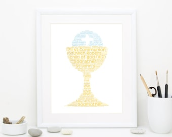 First Communion Gift, Gift for Communion, Personalized Communion Gift, Holy First Communion, DIGITAL FILE