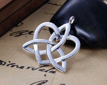 2 charm/pendant knot Celtic 3.4 X 2.9 cm