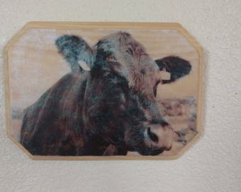 Cattle Picture Decoupage