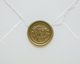 W Letter Wax Seal | Initial Wax Seal Stamp