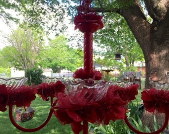 Ruby Red Birdfeeder or Candle Chandelier (free shipping)