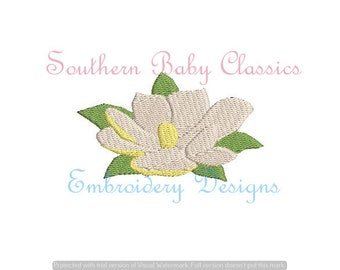 Magnolia Mini Fill Southern Flower Tree Floral  Vintage Stitch Design File for Embroidery Machine Instant Download