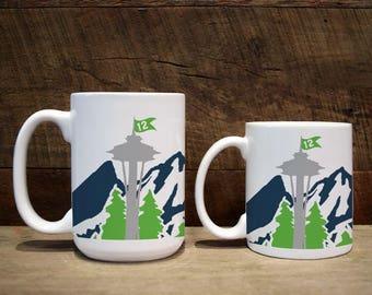 Mug, custom mug, custom coffee mug, custom mugs, Football Fan, coffee drinker, Northwest fan,#1 fan