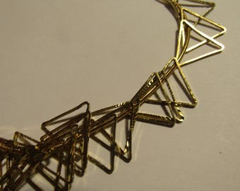 set of 50 small golden triangles 15mm side