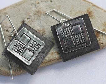 Geometric Earrings in sterling