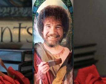 Saint Bob Ross Prayer Candle / Joy of Painting