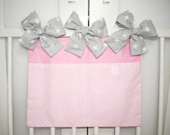 Crib Organizer, 2 Pockets, 100% Cotton