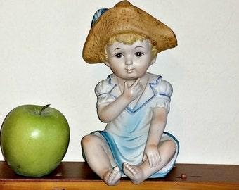 Colonial Boy Yankee Doodle Vintage  LOGO  Large Figurine Japan Collectible