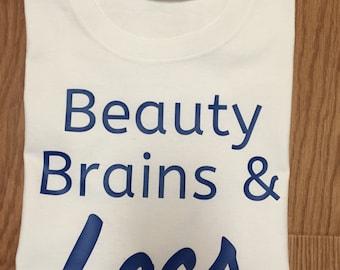 Brains Beauty & Locs T-Shirt. Natural Hair T-Shirt. Locs T-Shirt. Women's T-Shirt. Dreadlocs Tee.
