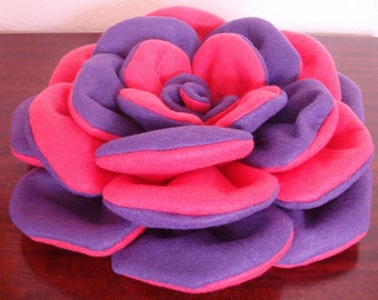 "A Rose by Any Other Name Purple and Pink Attention Getter Party Gathering or Church Social Huge 12"" x 3 1/2"" Felt Brooch"