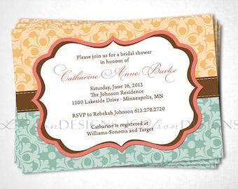 Stitched Boutique Bridal Shower Invitation