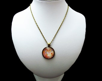 Pendant Necklace - New World Lights - By Mixed Media Artist Malinda Prudhomme