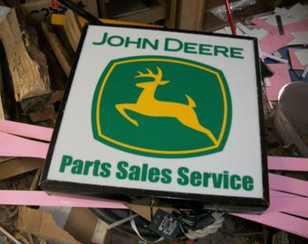 John Deere Parts Sales Service Lighted sign 21x21x4