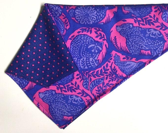 Reversible animal story bandana