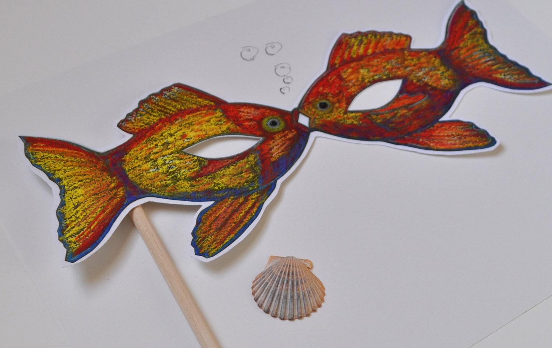 Tolle Fisch Maske Vorlage Ideen - Beispiel Business Lebenslauf Ideen ...