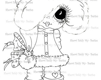 INSTANT DOWNLOAD Digital Digi Stamps Big Eye Big Head Dolls Messy Bessy My Besties Digi Img392 By Sherri Baldy