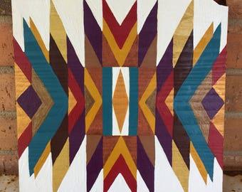 Tribal - Acrylic on wood