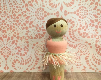 Ballerina Peg Doll