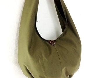Women bag Handbags Canvas Bag Cotton bag Shoulder bag Hobo bag Boho bag Tote bag Purse Travel bag Everyday bag Olive Green