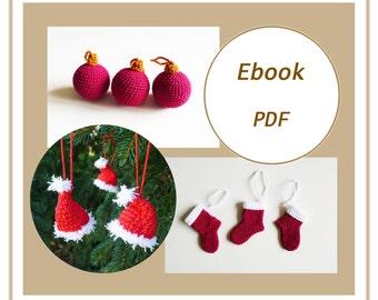 Christmas, eBook PDF crochet pattern, crochet pattern, christmas, Christmas balls, eBook crochet pattern christmas