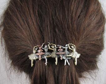 Ballette French Barrette 70mm- Medium Barrette- Ballerina Gift- Hair Accessory- Hair Clip- French Clip