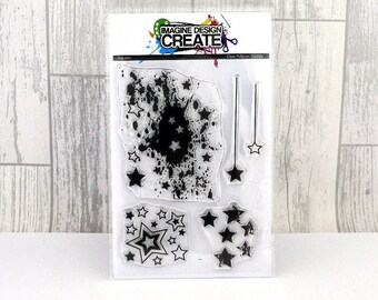 Star Mix A6 clear photopolymer stamps
