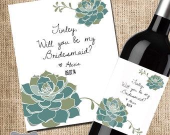 Bridesmaid Proposal Wine Label, Asking Bridesmaid Gift, Will You Be My Bridesmaid Wine Label, Bridesmaid Gift, Asking Maid of Honor Gift