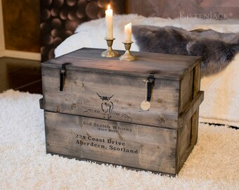 "Crate box Cargo Chest Table Storage Box ""Scotch"""