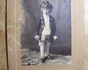 "Antique Cabinet Card Photo Dandy Boy Dressed As George Washington (6x8"" card)"