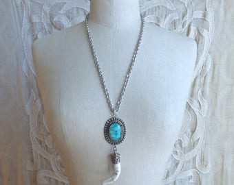 Turquoise Tusk Necklace