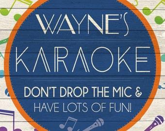 Custom Karaoke Sign Digital Download