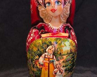 "7.5"" tall, 5 nested Fine Art Doll"