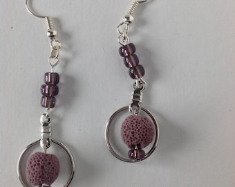 Halo Diffuser Earrings- Purple