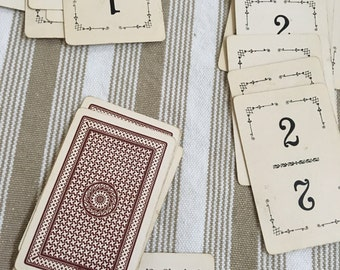 Antique Flinch Card Game - Wedding Table Numbers