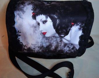 Goth style cross body/ clutch bag