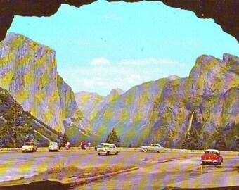 Vintage Used (Unstamped) Post Card Yosemite National Park, California