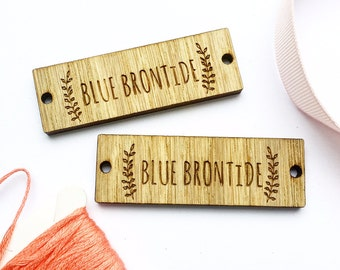 Sew on Wooden tags, Custom Clothing Labels, Wooden Tags, Wooden Labels, Clothing Tags,  Labels for Handmade, 01BS
