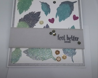 Feather Get Well card