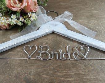 Dress Hanger for Bride - Bridal Gown Hanger - Shower Gift - Shower Bridal Gift - Dress Hanger Wedding - Bride Wedding Hanger - Wood Hanger