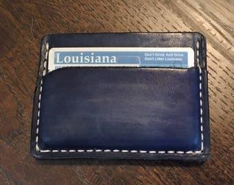 Simple wallet - blue denim color