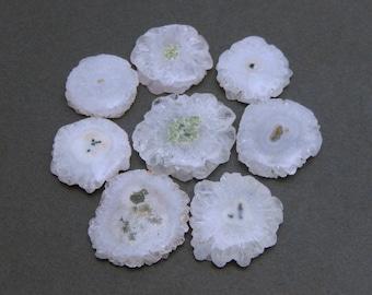 White Solar Quartz 1. 5. 10 or 25 pieces (RK14B7-11)