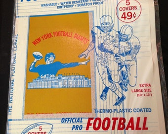 1965 NFL Football book covers New old stock with Giants & Team Logo covers MIP