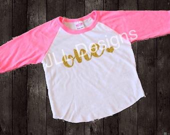 Glitter Birthday shirt, 1 year old birthday shirt girl, first birthday shirt, 1st birthday shirt