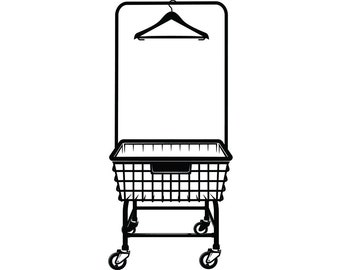 Laundry Basket #2 Clothes Cleaning Maid Service Housekeeper Housekeeping Clean Washer Dryer.SVG .EPS .PNG Clipart Vector Cricut Cutting File