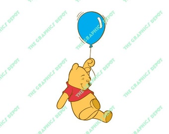 Winnie the Pooh - SVG file, DXF file, EPS file, png file - Instant Download - Cricut Explorer - Silhouette Cameo